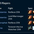 Here's a sampling of our DPS. This is from our most recent farm night in ICC 25.  Grats folks, keep it up!